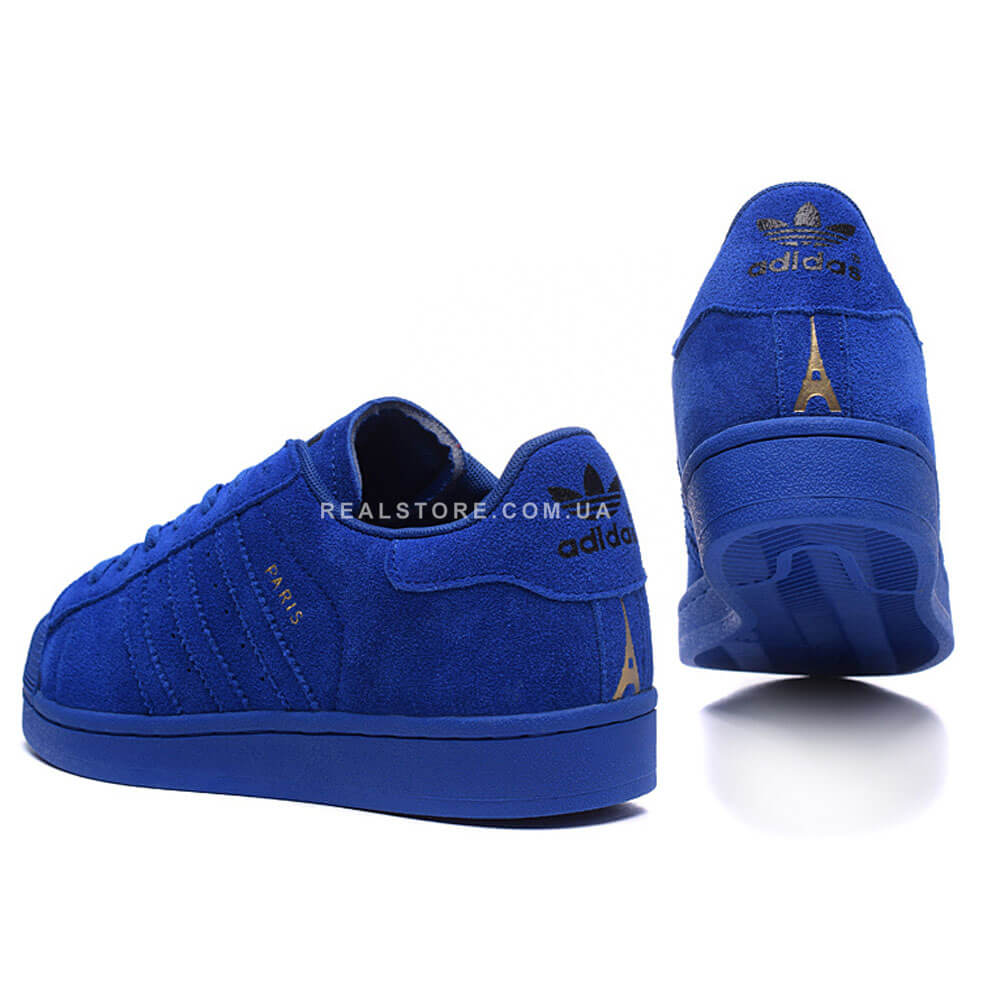 "Кроссовки Adidas Superstar 80s City Pack Paris ""Blue"""