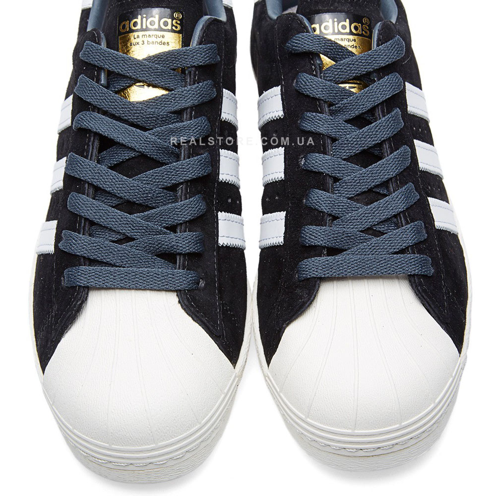 "Кроссовки Adidas Superstar 80s Deluxe Suede ""Black"""