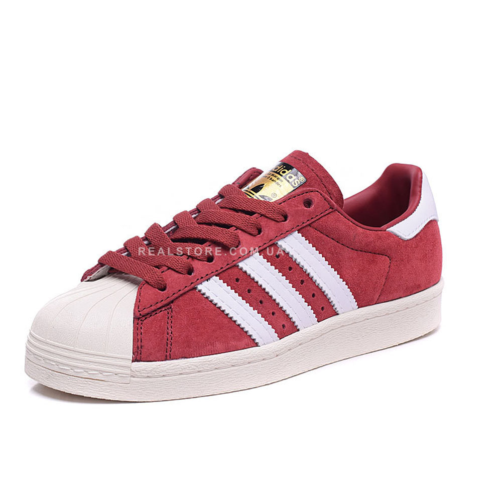 "Кроссовки Adidas Superstar 80s Deluxe Suede ""Bordo"""