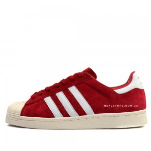 "Кроссовки Adidas Superstar 80s Deluxe Suede ""Red/Milk"""