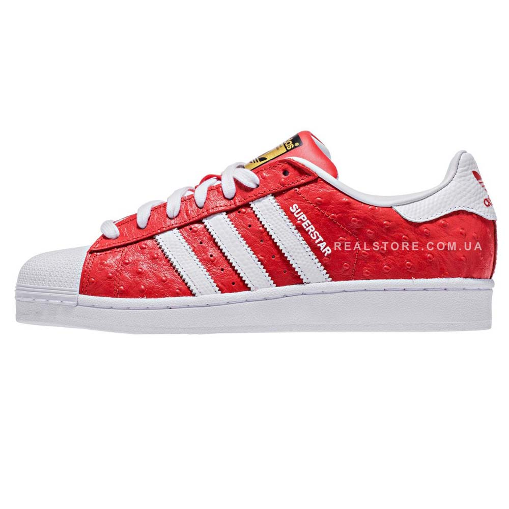 "Кроссовки Adidas Superstar Animal ""Red"""