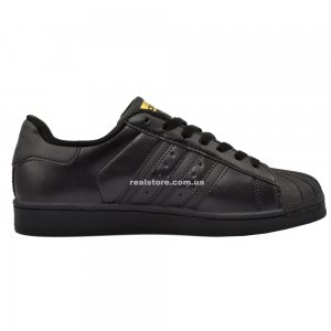 "Кроссовки Adidas Superstar ""Black/Gold"""