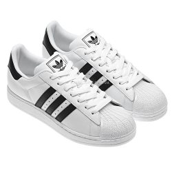 "Кроссовки Adidas Superstar Black Stripes ""White"""