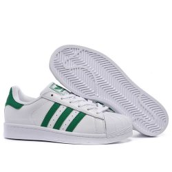 "Кроссовки Adidas Superstar ""White/Green Stripes"""