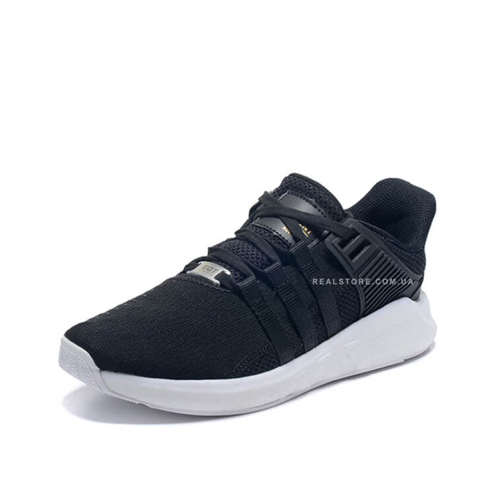 """Кроссовки Adidas EQT Support 93/17 Boost """"Black/White/Gold"""""""