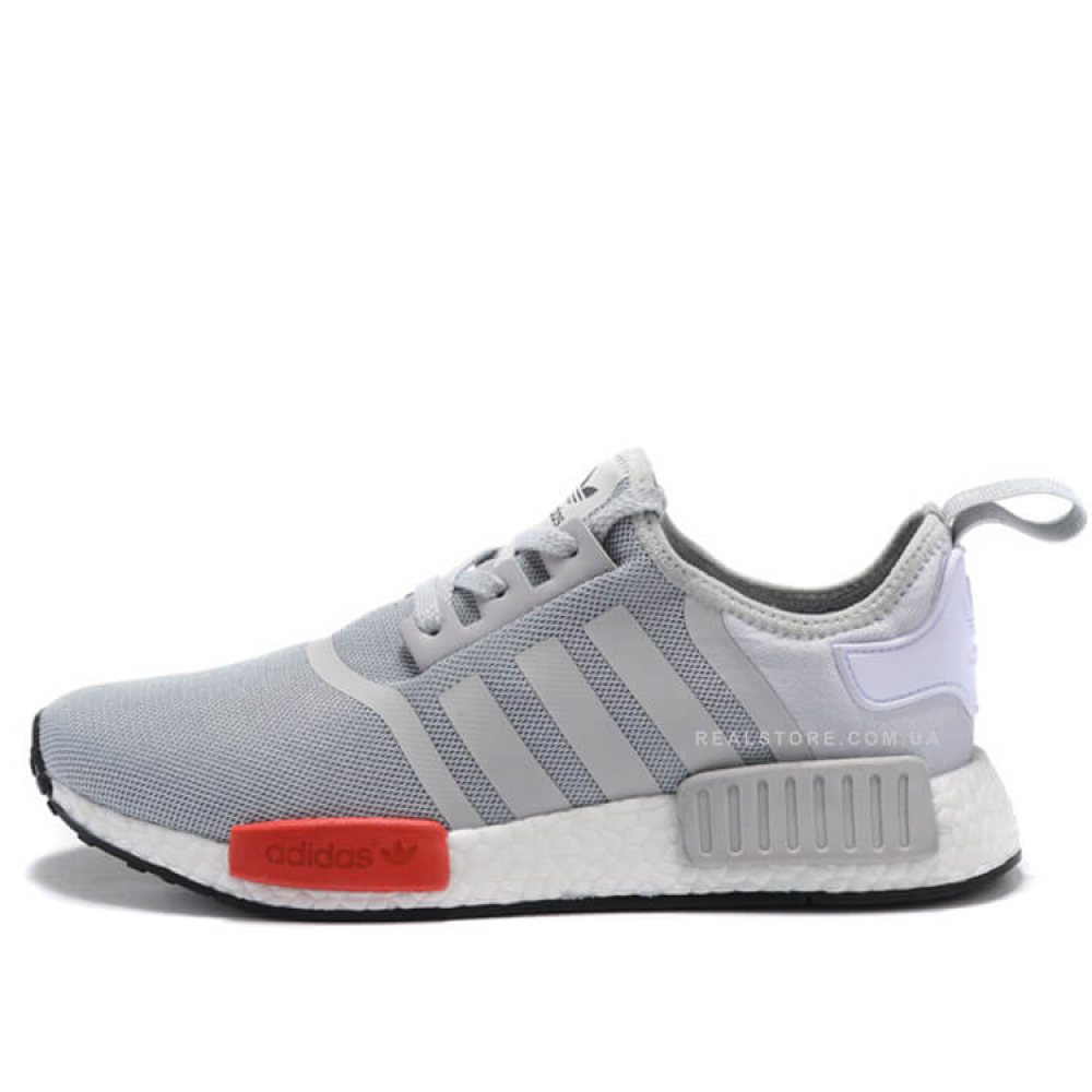 "Кроссовки Adidas NMD R1 ""Core Grey/Red"""