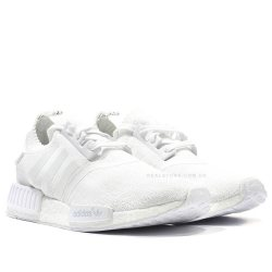"Кроссовки Adidas NMD R1 Primeknit ""All White"""