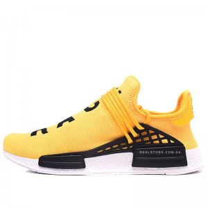 "Кроссовки Pharrell x Adidas NMD Human Race ""Yellow/White"""