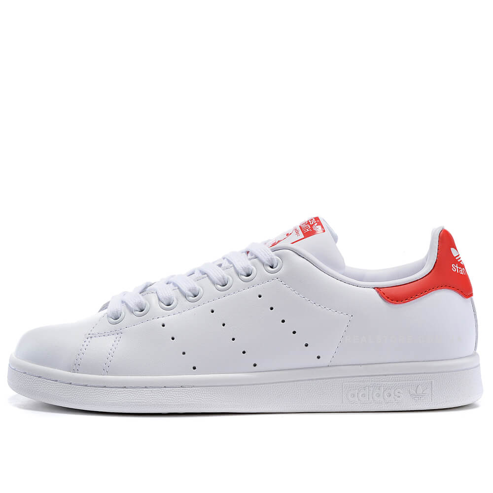 """Кроссовки Adidas Stan Smith Leather """"White/Red"""""""
