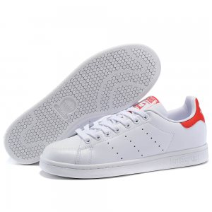 "Кроссовки Adidas Stan Smith Leather ""White/Red"""