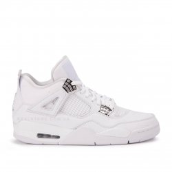 "Кроссовки Nike Air Jordan 4 Retro Pure Money ""Triple White"""