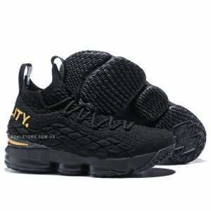 "Кроссовки Nike LeBron 15 ""Black/Gold"""