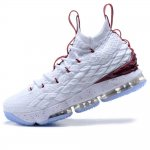 "Кроссовки Nike LeBron 15 ""White/Bordo/Ice"""