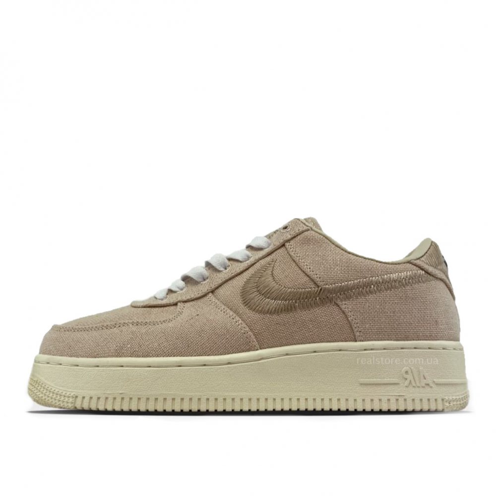Кроссовки Nike Air Force 1 Low Fossil x Stussy