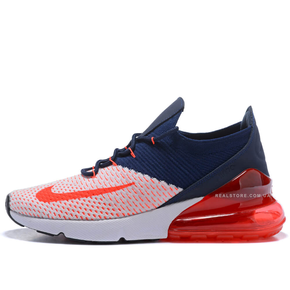 "Кроссовки Nike Air Max 270 Flyknit ""Blue/White/Red"""