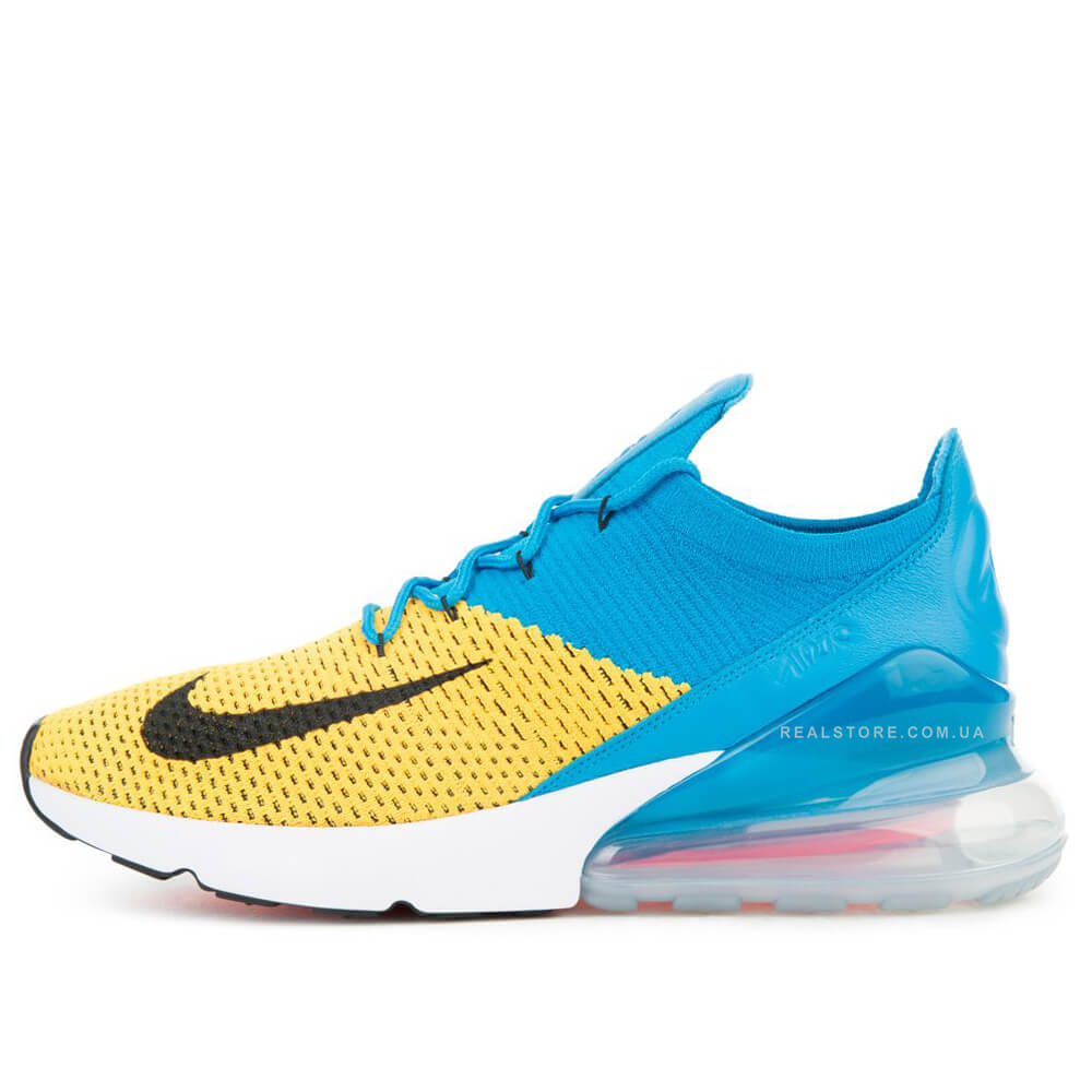 "Кроссовки Nike Air Max 270 Flyknit ""Blue/Yellow"""