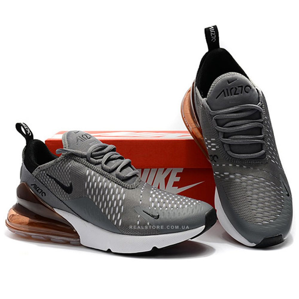 "Кроссовки Nike Air Max 270 ""Grey/White/Brown"""
