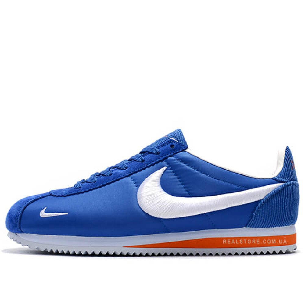 "Кроссовки Nike Classic Cortez Nylon Embroidery ""Blue/Orange"""