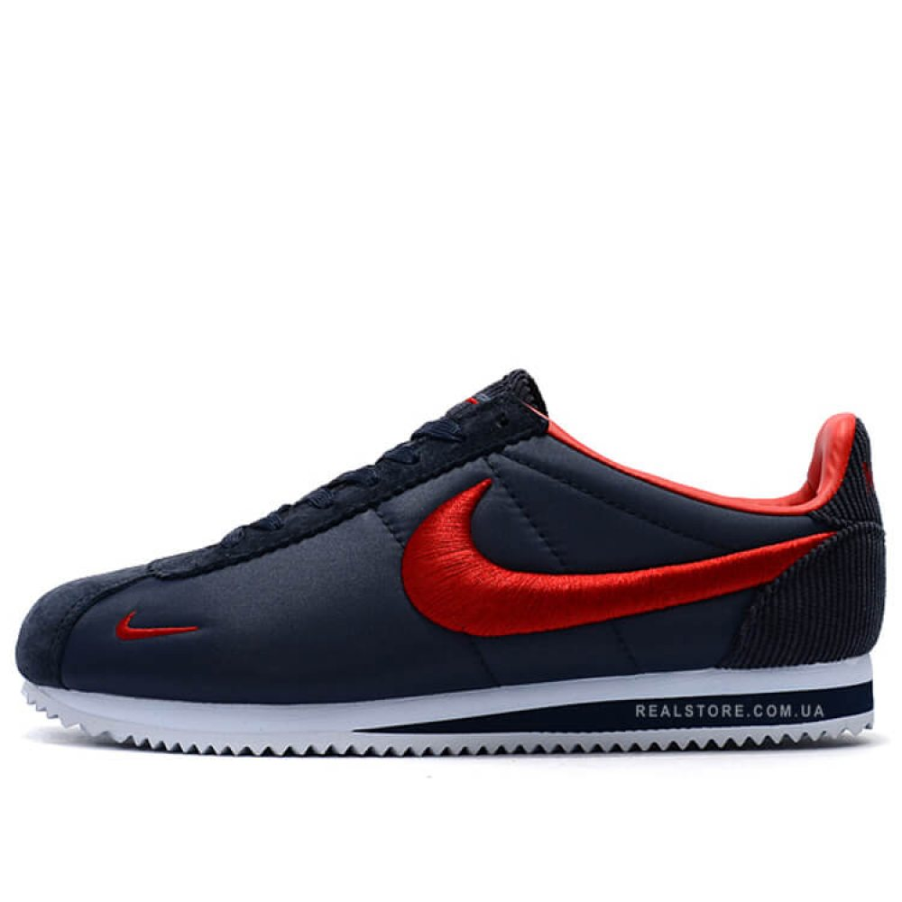 "Кроссовки Nike Classic Cortez Nylon Embroidery ""Navy/Red"""