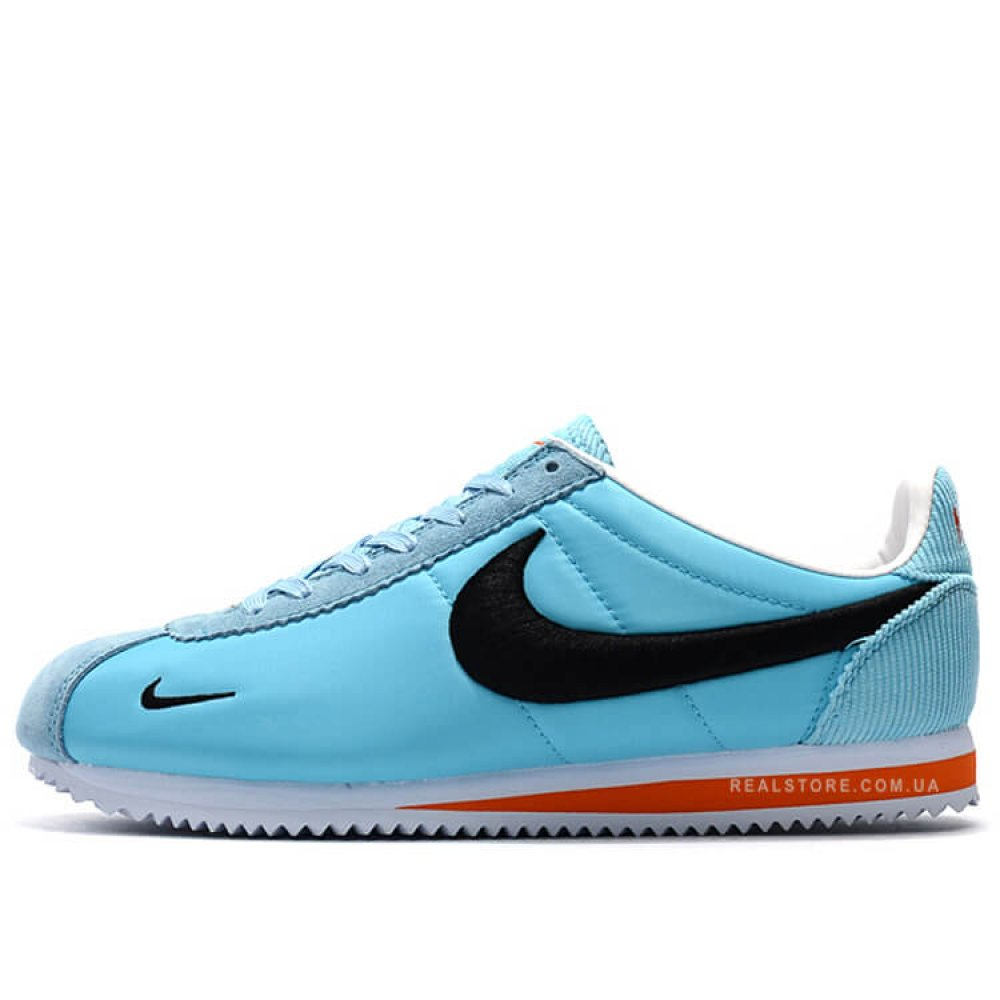 "Кроссовки Nike Classic Cortez Nylon Embroidery ""Sky Blue/Black"""