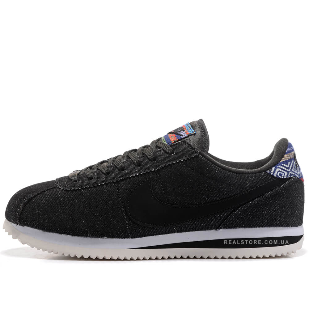 "Кроссовки Nike Cortez SE Denim Afro Punk ""Black"""