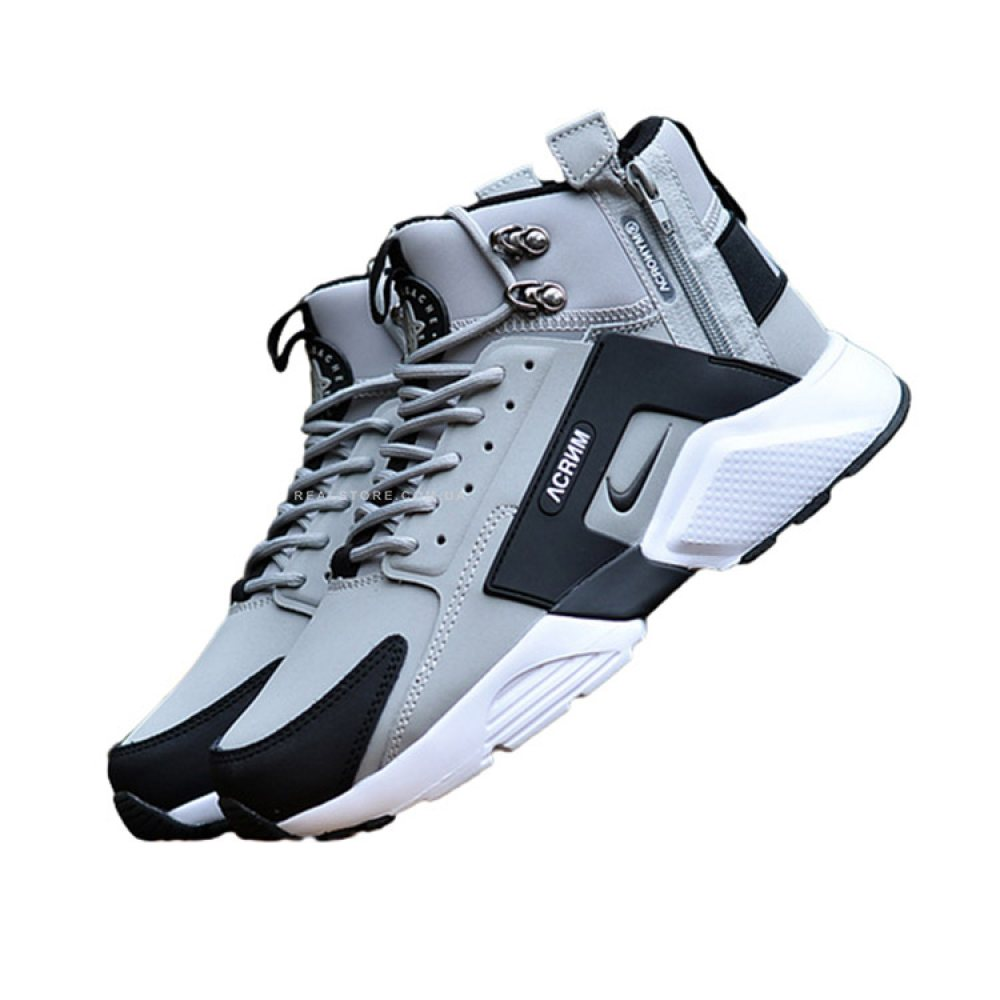 "Кроссовки Nike Air Huarache Mid x Acronym City ""Grey/Black"""
