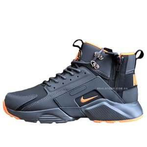 "Кроссовки Nike Air Huarache Mid x Acronym City ""Grey/Orange"""