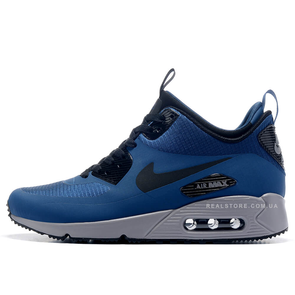 "Кроссовки Nike Air Max 90 MID Winter ""Blue/Silver"""