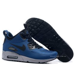 """Кроссовки Nike Air Max 90 MID Winter """"Blue/Silver"""""""