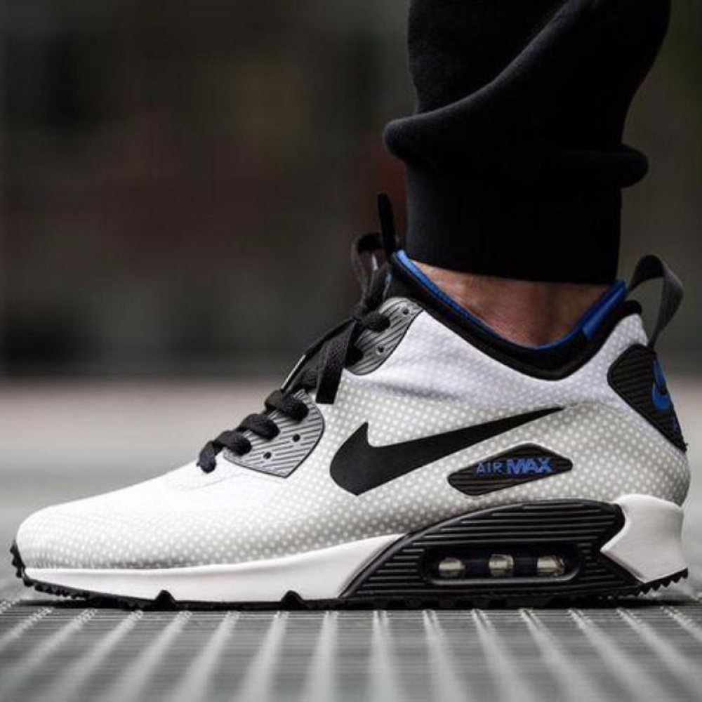 "Кроссовки Nike Air Max 90 MID Winter ""White/Black"""