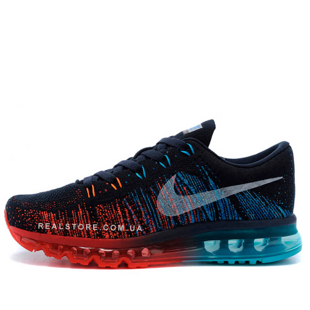 "Кроссовки Nike Air Max Flyknit 2014 ""Black/Red/Blue"""