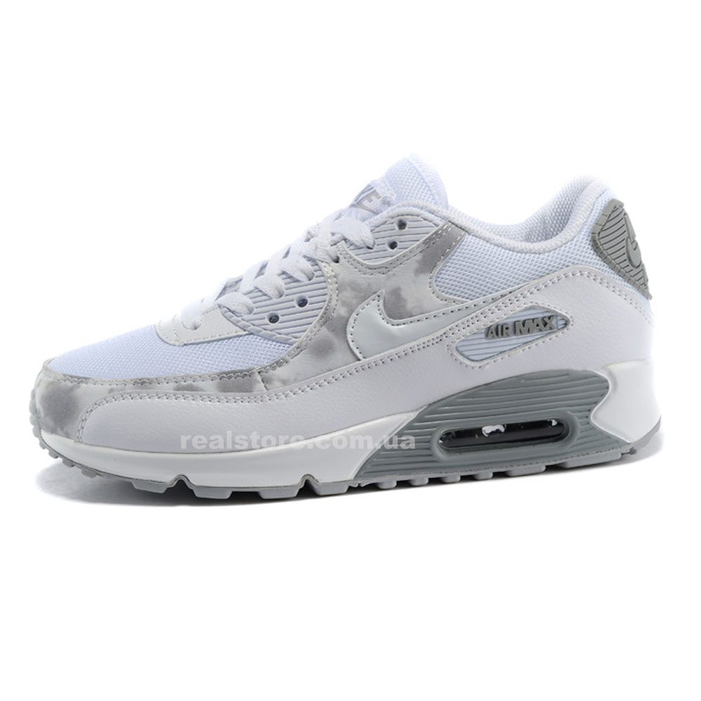 "Кроссовки Nike Wmns Air Max 90 ""White/Gray"""