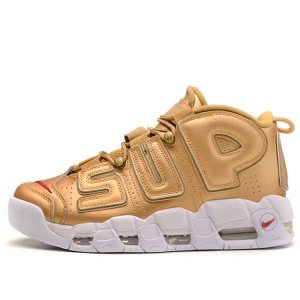 "Кроссовки Nike Air More Uptempo Supreme ""Gold/White"""