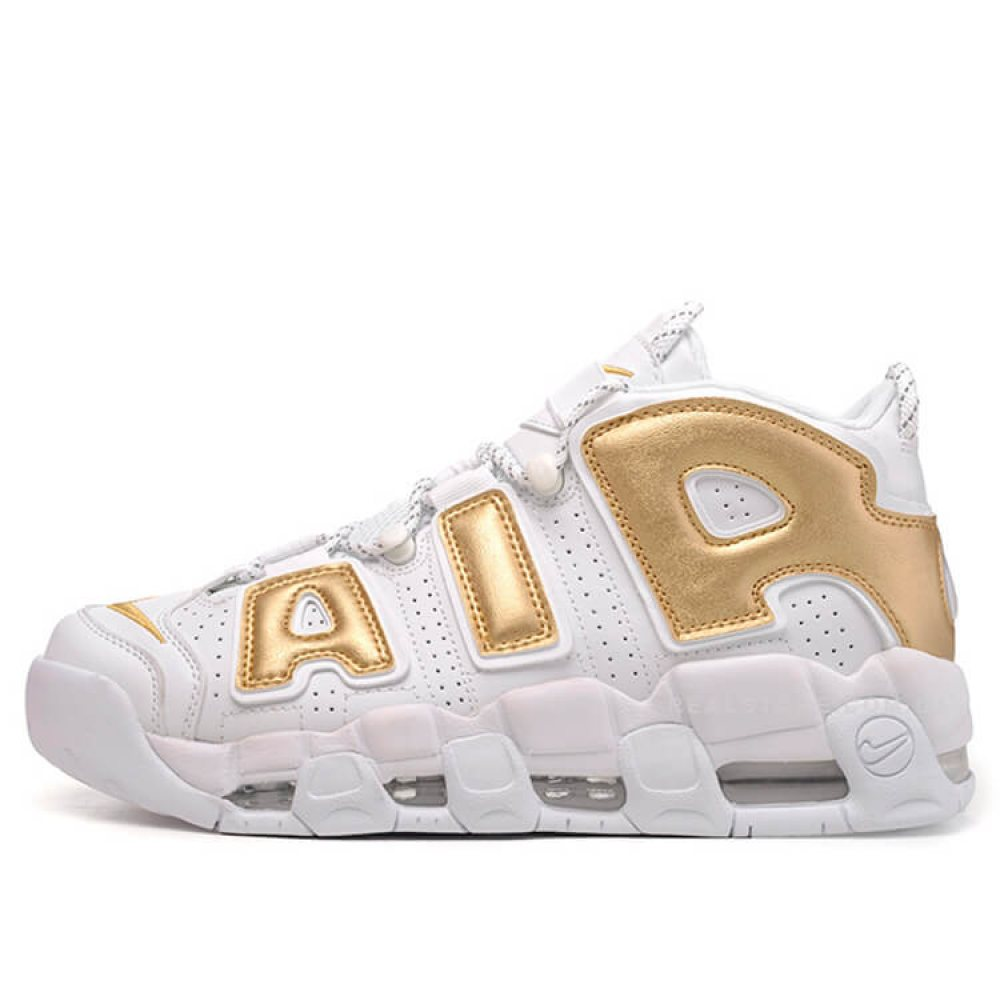 "Кроссовки Nike Air More Uptempo ""White/Gold"""