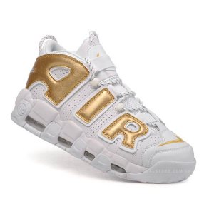 """Кроссовки Nike Air More Uptempo """"White/Gold"""""""