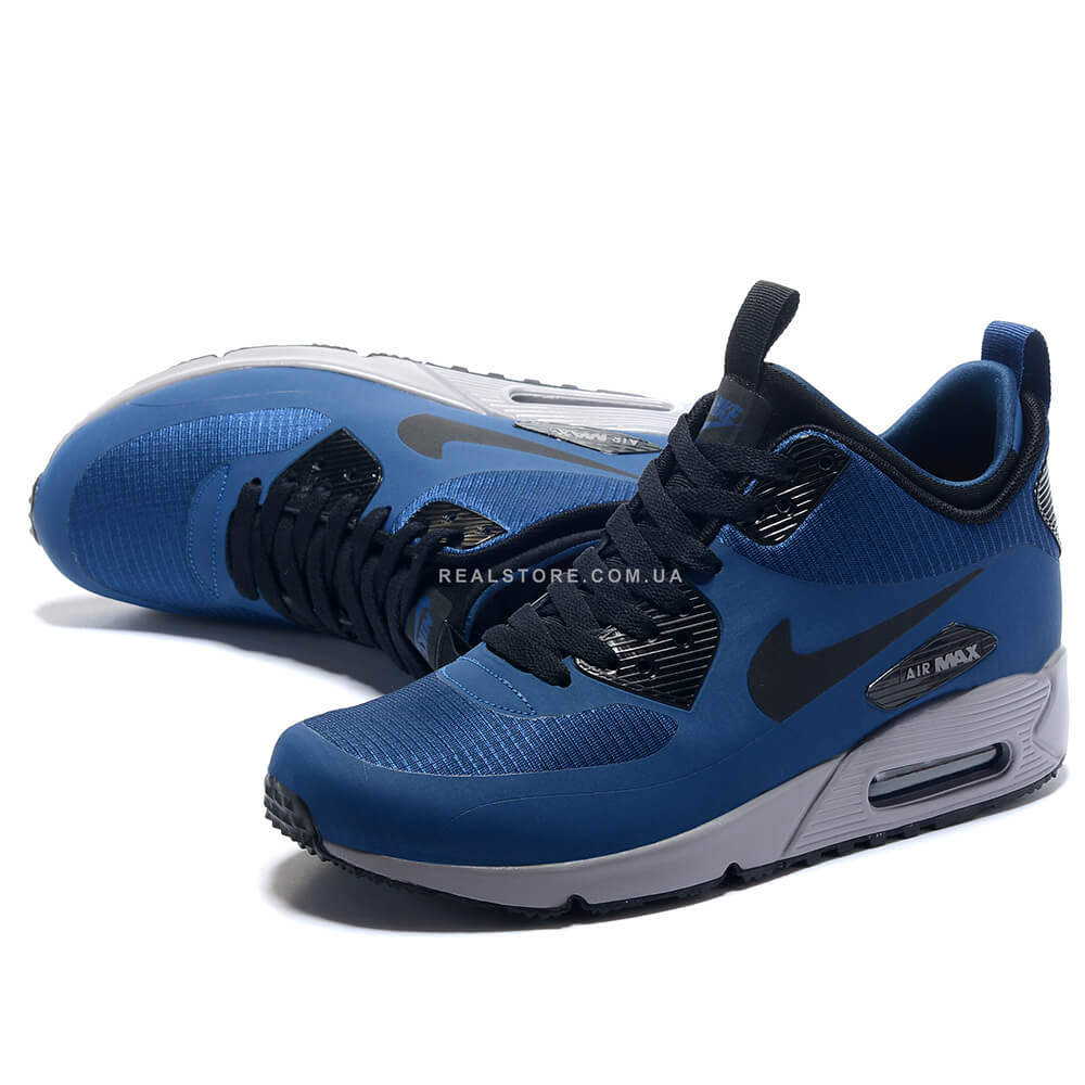 "Кроссовки Nike Air Max 90 MID Winter ""Blue/Silver"", купить ..."