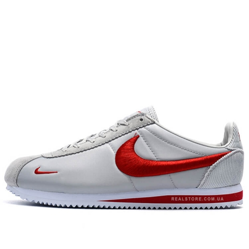 "Кроссовки Nike Classic Cortez Nylon Embroidery ""Light Grey/Red"""