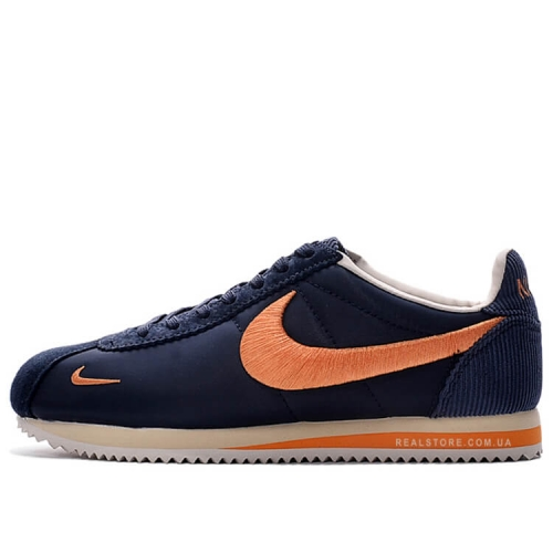 "Кроссовки Nike Classic Cortez Nylon Embroidery ""Navy/Orange"""