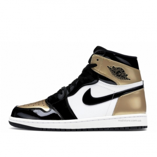 Кроссовки Nike Air Jordan 1 Gold Black