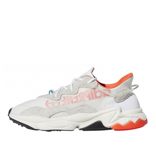 Кроссовки Adidas Ozweego Big Logo White Solar Red