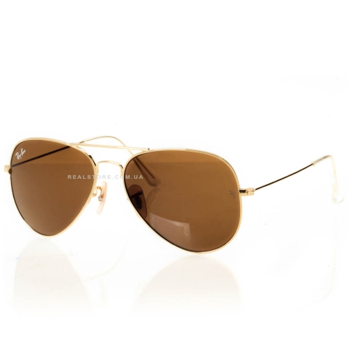 "Очки Ray-Ban Aviator 3025 ""Gold/Brown"""