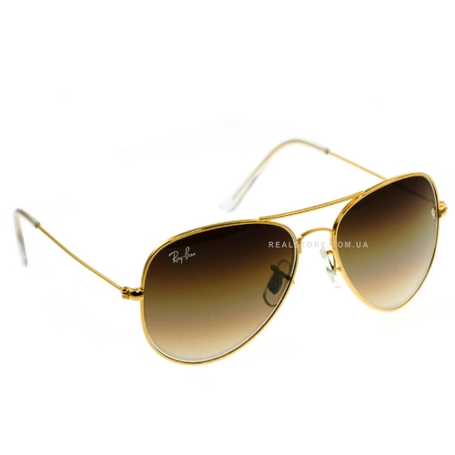 "Очки Ray-Ban Aviator 3025 Gradient ""Gold/Brown"""