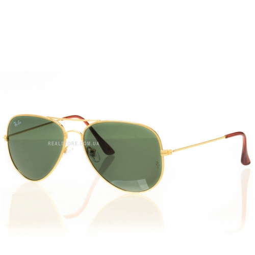 "Очки Ray-Ban Aviator 3026 ""Gold/Green"""