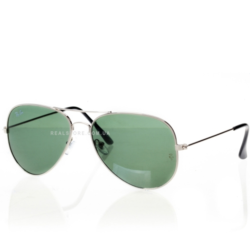 "Очки Ray-Ban Aviator 3026 ""Silver/Green"""
