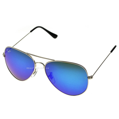 "Очки Ray-Ban Aviator 3026 ""Silver/Blue"""