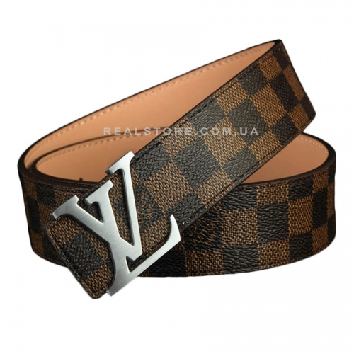 "Ремень Louis Vuitton ""Brown/Silver"""