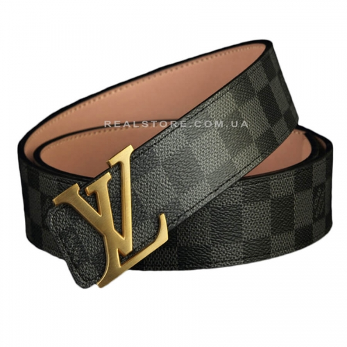 "Ремень Louis Vuitton ""Grey/Gold"""