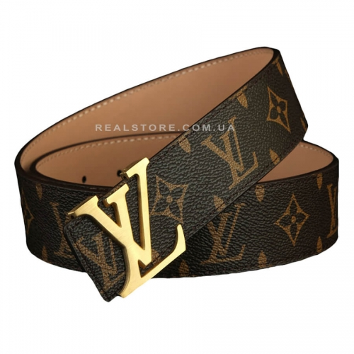"Ремень Louis Vuitton ""BrownLVLV/Gold"""