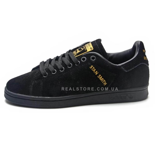 "Кроссовки Adidas Stan Smith Suede ""Black"""