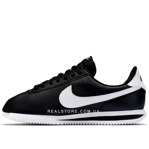 "Кроссовки Nike Cortez Basic Leather ""Black/White"""